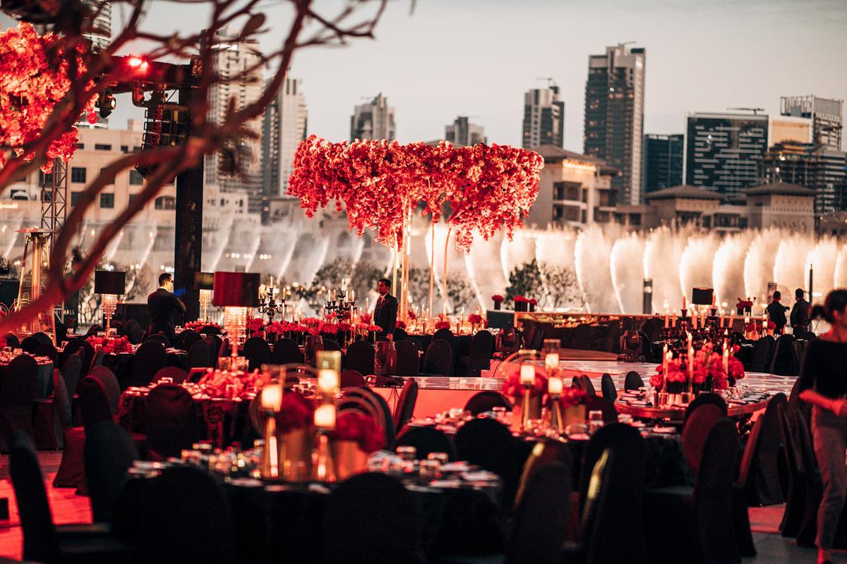 Outdoor Wedding Decor Armani Pavillion