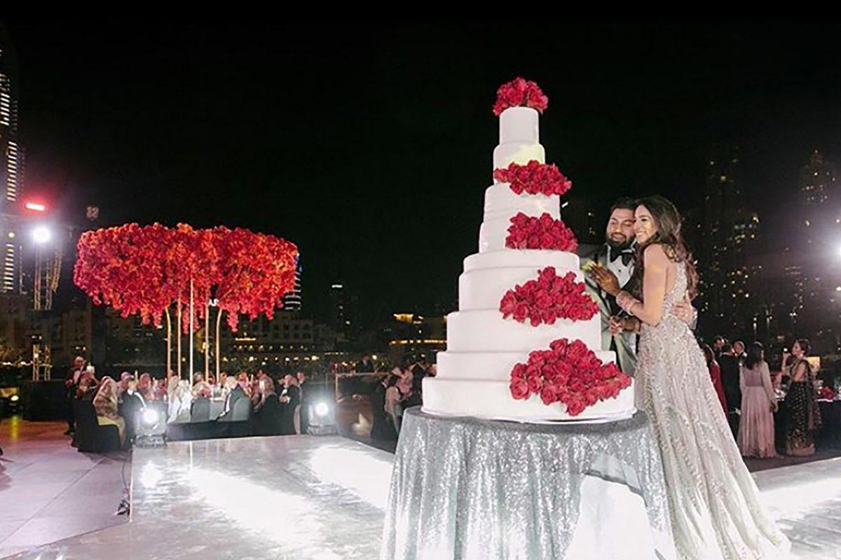 Araman DXB Wedding Ceremony Cake
